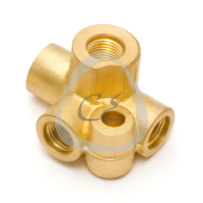 Brass Four Way Brake Union, Brass 4 Way Brake Pipe Connector, Brass Four way Brake Union M 10 x 1, Brass M 10 x 1 brake pipe connector, Brass 3/8