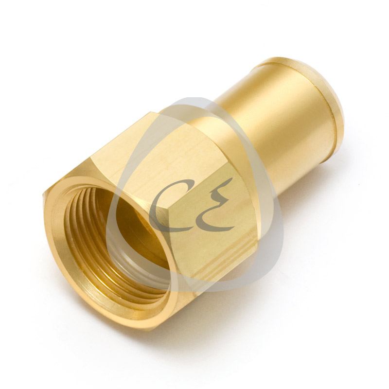 Crimp Type PE Brass Transition Fitting for Gas, Brass 70 mm BSP/NPT Transition Fitting