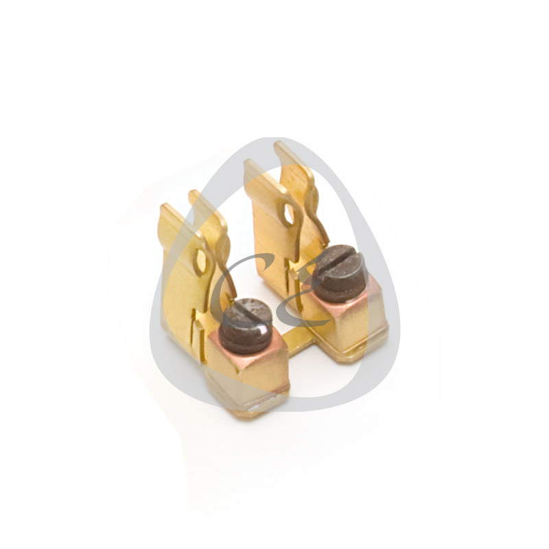 Brass Fuse Set - Double, Brass Fuse Holder